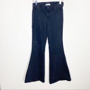 Free people black wide leg jeans
